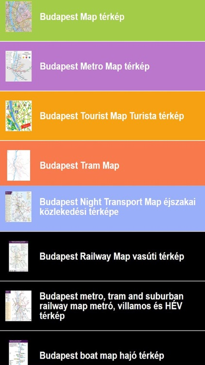 Hungary Budapest Map Public Transit Route Plan by Janice Ong