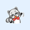 Little Cutie Raccoon Stickers Wiki