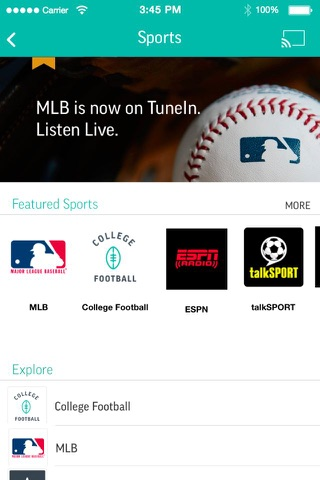 TuneIn Pro - Radio & Sports screenshot 1