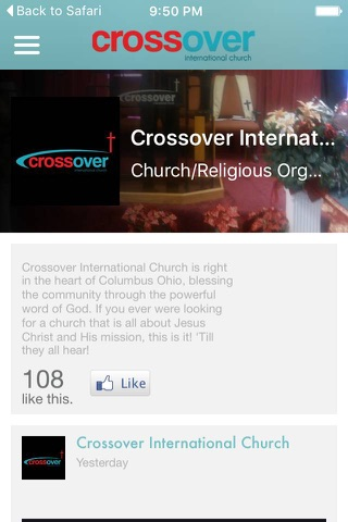 Crossover International Church screenshot 1