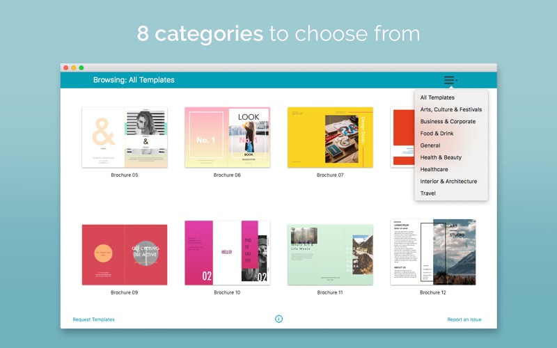 Brochure Templates 100 Brochures For Pages By Onsoftas Mb