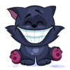 Emoji Cartoon Black Cat Stickers Wiki