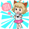 download Little Cat Girl stickers by Annie for iMessage