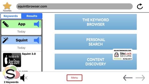 Squint Browser Screenshot