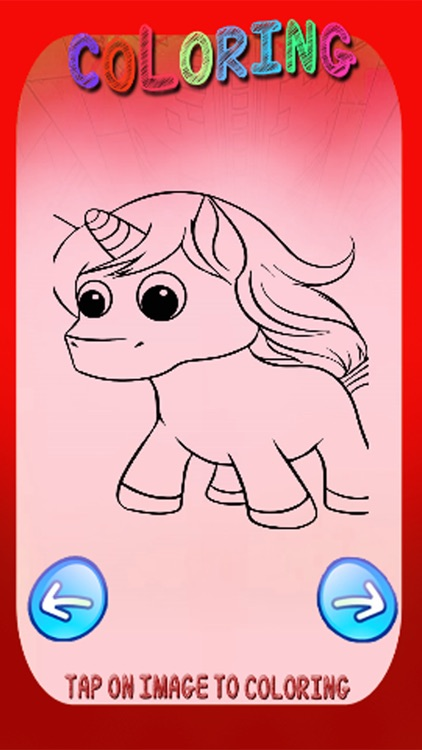 Free Coloring Book Game Pony Unicorn Version