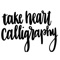 download Take Heart Calligraphy Stickers