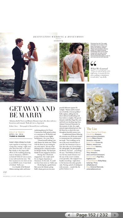 Modern Luxury Weddings Atlanta review screenshots
