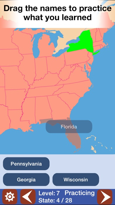 Geo touch geography game us states the world on the app store iphone screenshot 2 sciox Images