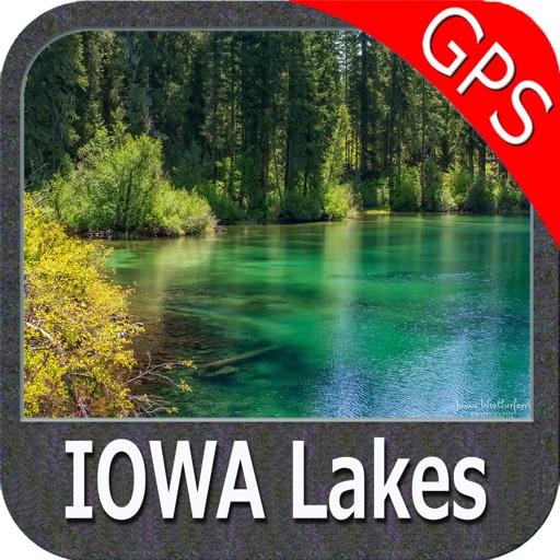 Iowa lakes fishing gps nautical charts offline by flytomap for Iowa fishing lakes