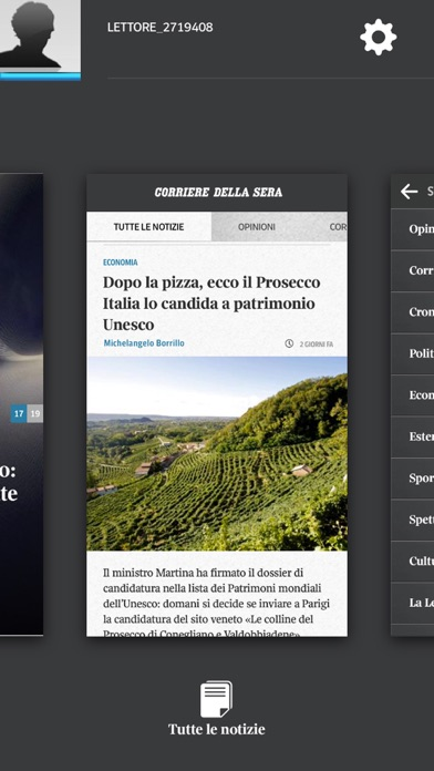 Screenshot of Corriere UP4