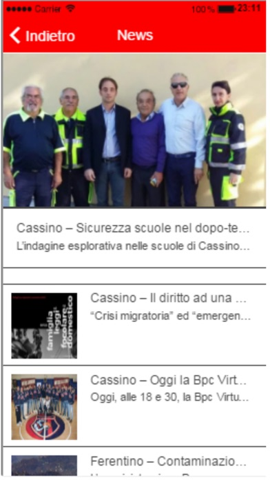 Screenshot of RadioCassinoStereo4