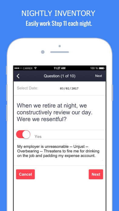 Screenshots of My Spiritual Toolkit - AA 12 Steps App Alcoholics for iPhone