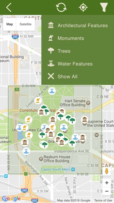 US Capitol Grounds On The App Store - Map of us capitol grounds
