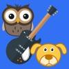 Музыкальные карточки - Звуки животных в картинках