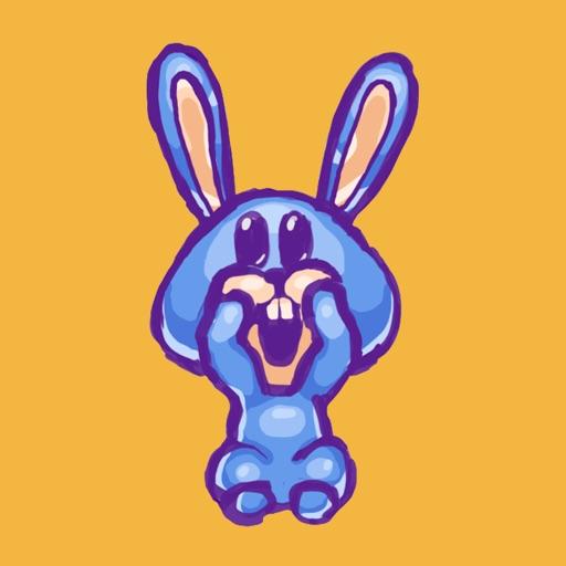 cool bunny stickers by sergey karagodin