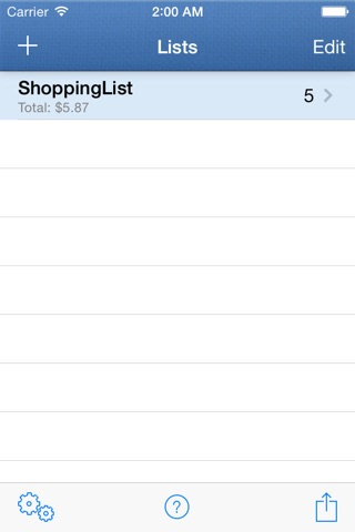 ShoppingList screenshot 4