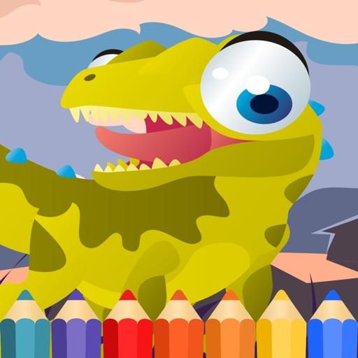 Dragon Dinosaur Coloring Book hd for kids free iOS App