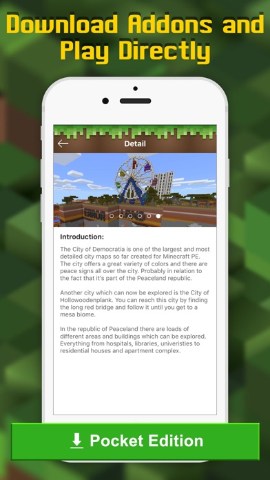 Add Ons Free Mcpe Maps Addons For Minecraft Pe On The App Store Minecraft Colors
