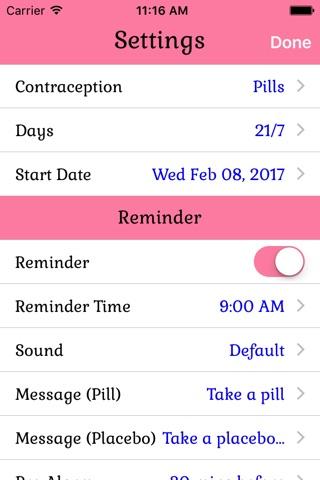 Birth Control Pill Reminder screenshot 2