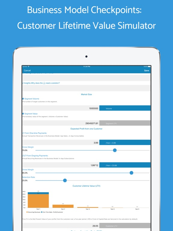 Small Business Plan Template Mobile App