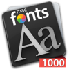 macFonts 1000 Red app for iPhone/iPad