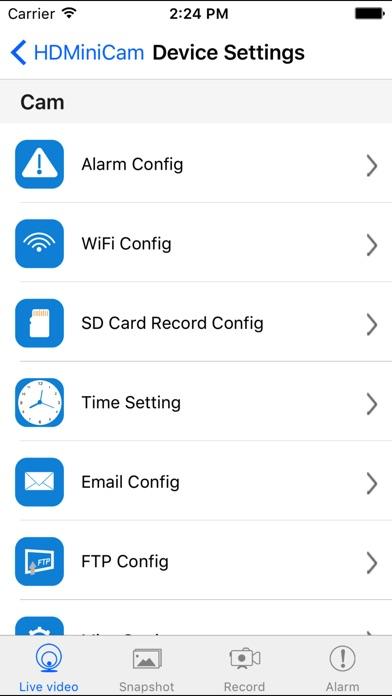 HDMiniCam Screenshot on iOS