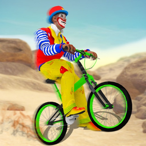 Clown Offroad Bicycle Rider: Top Bike Racing Game