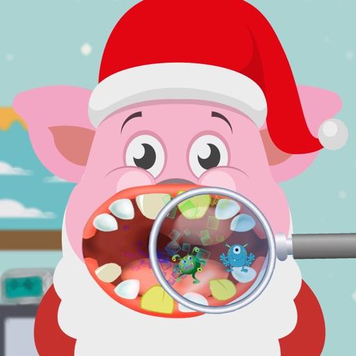 Santa Claus Pig - Christmas Dentist Games iOS App