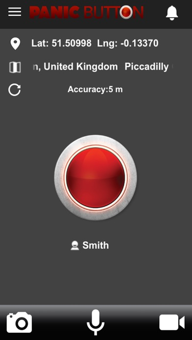 Red Panic Button screenshot 1