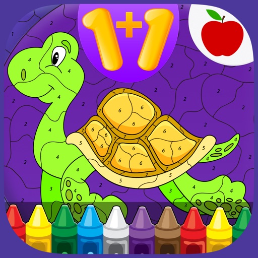 Kids Math Coloring Book - Paint by Numbers iOS App