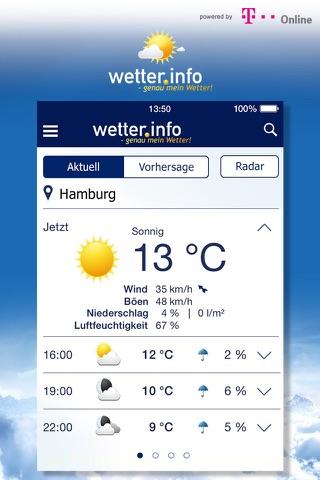 Wetter von t-online.de screenshot 1