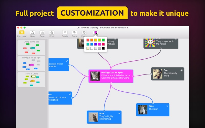 screenshot 3 oh my mind mapping pro - Osx Mind Mapping