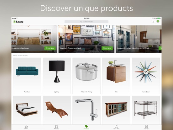 Houzz interior design ideas app voor iphone ipad en Houzz design app