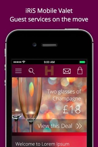 iRiS Mobile Valet - Heddon Hotel screenshot 1