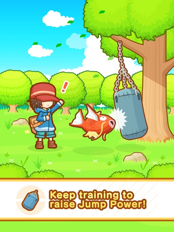 Screenshots of Pokémon: Magikarp Jump for iPad