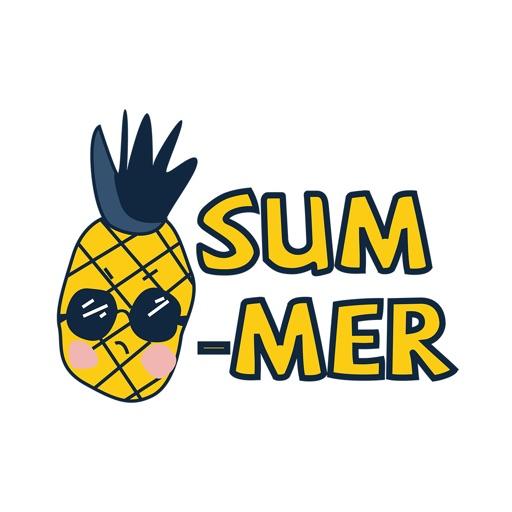 summer fruit stickers per ilya karanikola. Black Bedroom Furniture Sets. Home Design Ideas