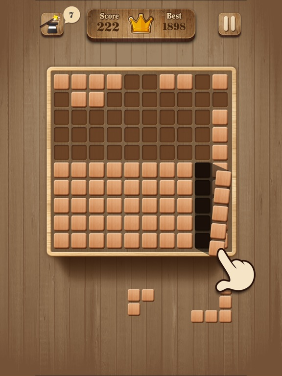 fill wooden block wood puzzle on the app store. Black Bedroom Furniture Sets. Home Design Ideas