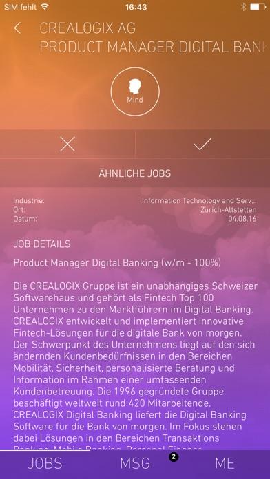 Screenshot von yooture Jobsuche2