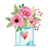 download Watercolor Love, Gifts & Quotes Stickers