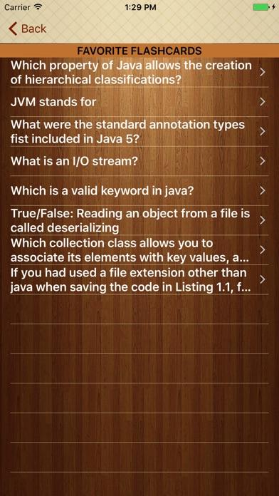 Screenshot of Impara Java con Flashcards5