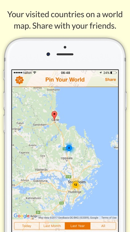 Pin your world best tool to gather visited places by kubbar ehf pin your world best tool to gather visited places gumiabroncs Images