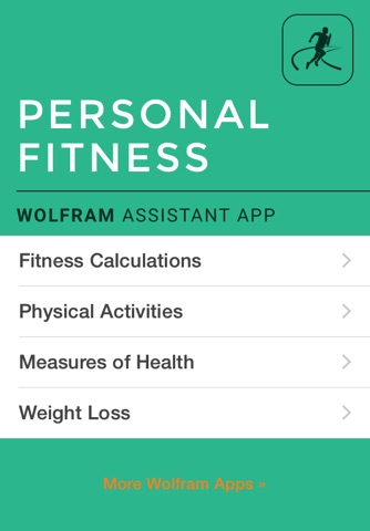 Wolfram Personal Fitness Assistant App screenshot 1
