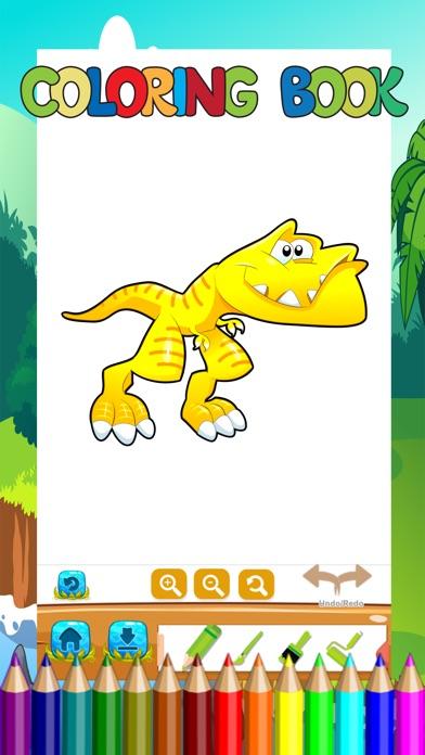 Screenshot of Libro di colorazione del dinosauro Bambini Imparar3