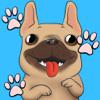 Frenchie Luv - French Bulldog Emojis