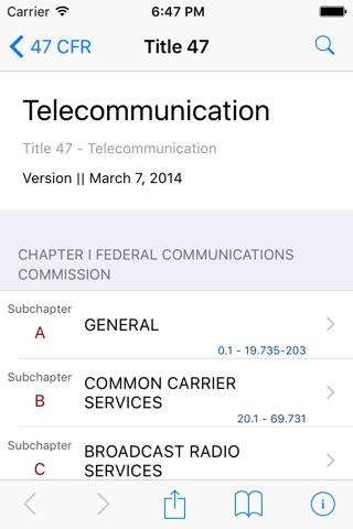 47 CFR - Telecommunication (LawStack Series) screenshot 1