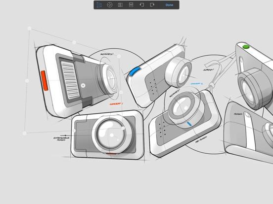 Screenshots of Autodesk SketchBook for iPad