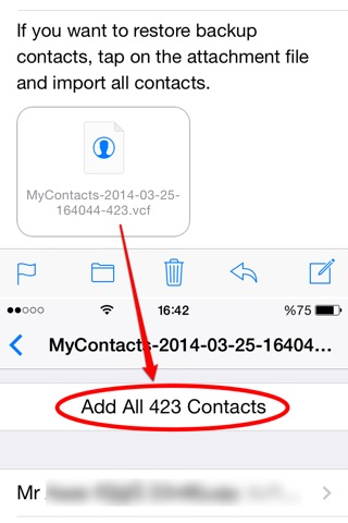 My Contacts Backup Pro screenshot 3