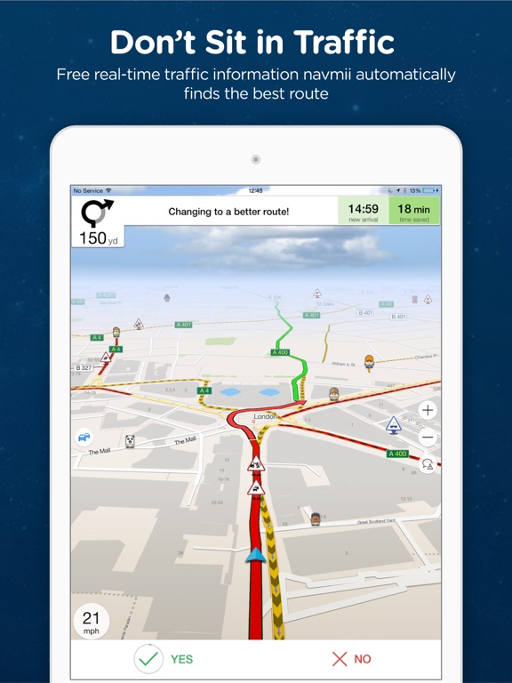 Navmii GPS USA Offline Navigation And Traffic On The App Store - Us road map for ipad