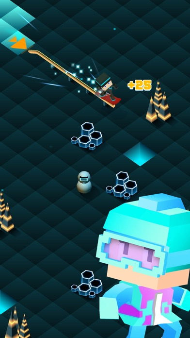 Blocky Snowboarding - Endless Runner Screenshot