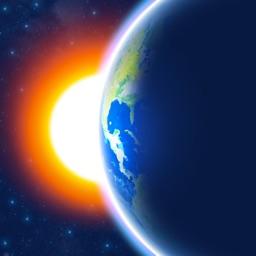 3D Earth - widget météo horloge mondiale et France